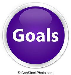 Goals premium purple round button