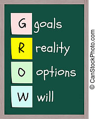 Goals Reality Options Will