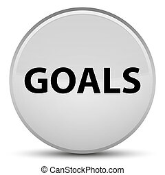 Goals special white round button