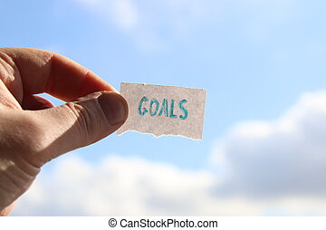 goals, success business strategy concept, blurred photo for background