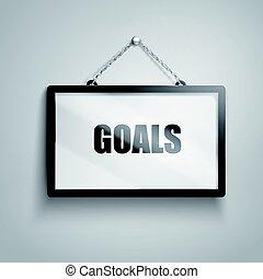 goals text sign