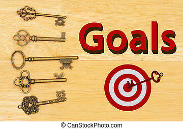 Goals type and target with skeleton keys