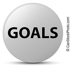 Goals white round button