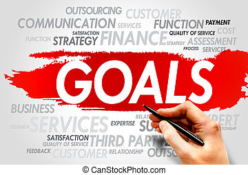 GOALS word cloud, business concept