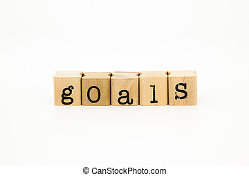 goals wording, project and business concept
