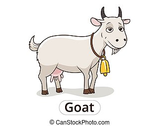Goat animal cartoon illustration for children