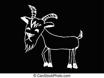 goat cartoon  illustration