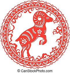 goat., chinês, ano