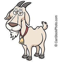 Goat - Vector illustration of Goat Cartoon