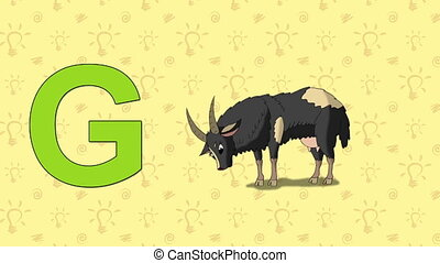 Goat. English ZOO Alphabet - letter G - Animated English ZOO...