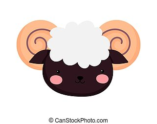 goat face farm animal cartoon background