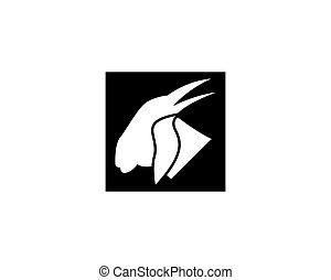 Goat head logo design vector illustration