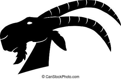 Goat Head Monochrome
