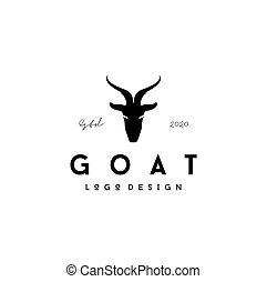 Goat head silhouette logo design