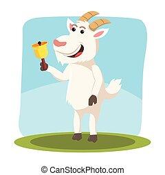 goat holding bell