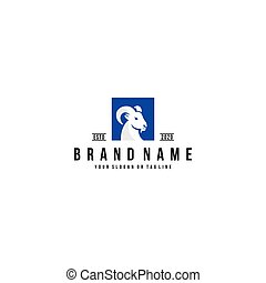 goat logo design vector