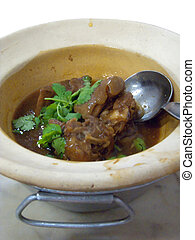 Goat meat stew  - Chinese style goat meat stew in pot