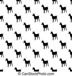 Goat pattern seamless