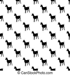 Goat pattern seamless