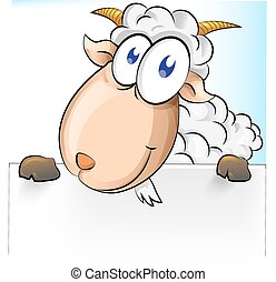 goat, plano de fondo, caricatura