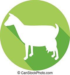 goat symbol flat icon (goat icon)