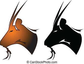 Goat tattoo symbol