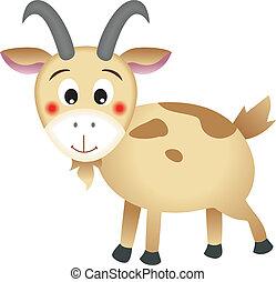The mountain goat vector design (clip art).