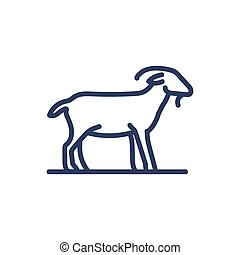 Goat thin line icon