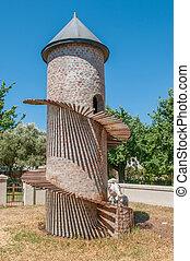Goat tower on a farm near Paarl