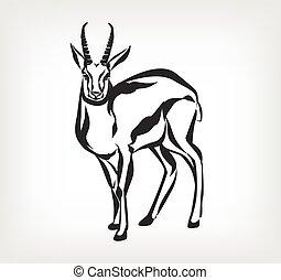 Goat vector black icon logo