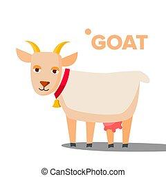 Goat Vector. Funny Animal. Isolated Flat Cartoon Illustration
