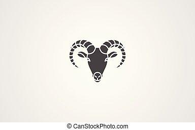 Goat vector icon sign symbol