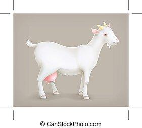 goat, vector, icono