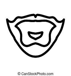 Goatee Icon. Editable Bold Outline Design. Vector Illustration.