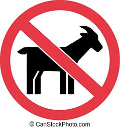 Goats forbidden sign