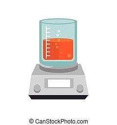 gobelet, chimique, laboratoire, verre