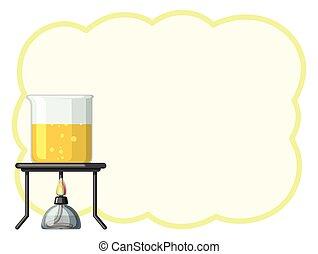 gobelet, frontière, jaune, liquide, gabarit