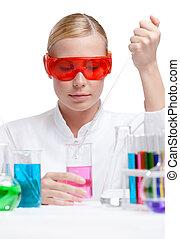 gobelet, pourpre, essais, liquide, détective