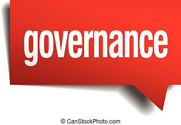 gobierno, realista, papel, burbuja del discurso, rojo, 3d