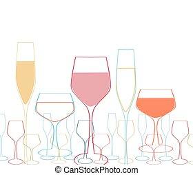 Goblet background - Background with wine goblet.