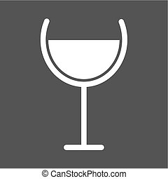 Goblet - Wine, champagne, goblet icon vector image. Can also...