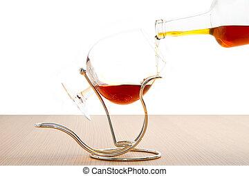 goblets, koniak