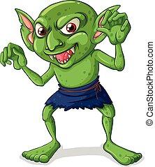 Goblin - Illustration of a green goblin