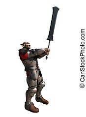 Goblin Soldier with Giant Sword