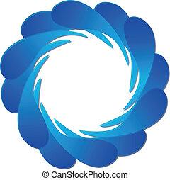 gocce, di, acqua, logotipo