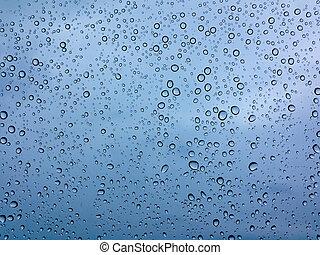 gocce, di, pioggia, su, il, vetro
