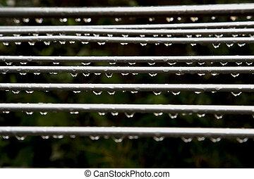 gocce, pioggia