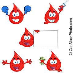 gocce, sangue, caratteri