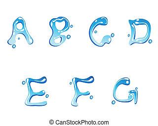 goccia acqua, tipo, font