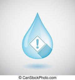 goccia, isolato, segno, acqua, avvertimento, strada